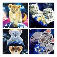 5D Diamant Peinture BRICOLAGE Tigre Point De Croix Pleine Carre Nouveaute Diamant Broderie Animale Vente Artisanat Decor Pour La Maison