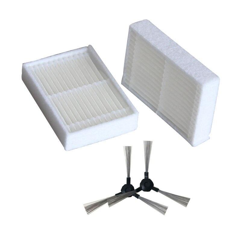 Filtros de escova lateral para o meu genie x750 proscenic verão p1 p2 aspirador peças