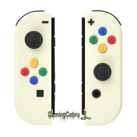 extremerate light cream soft touch controller housing shell cover with colorful buttons replacement parts for ns switch joycon