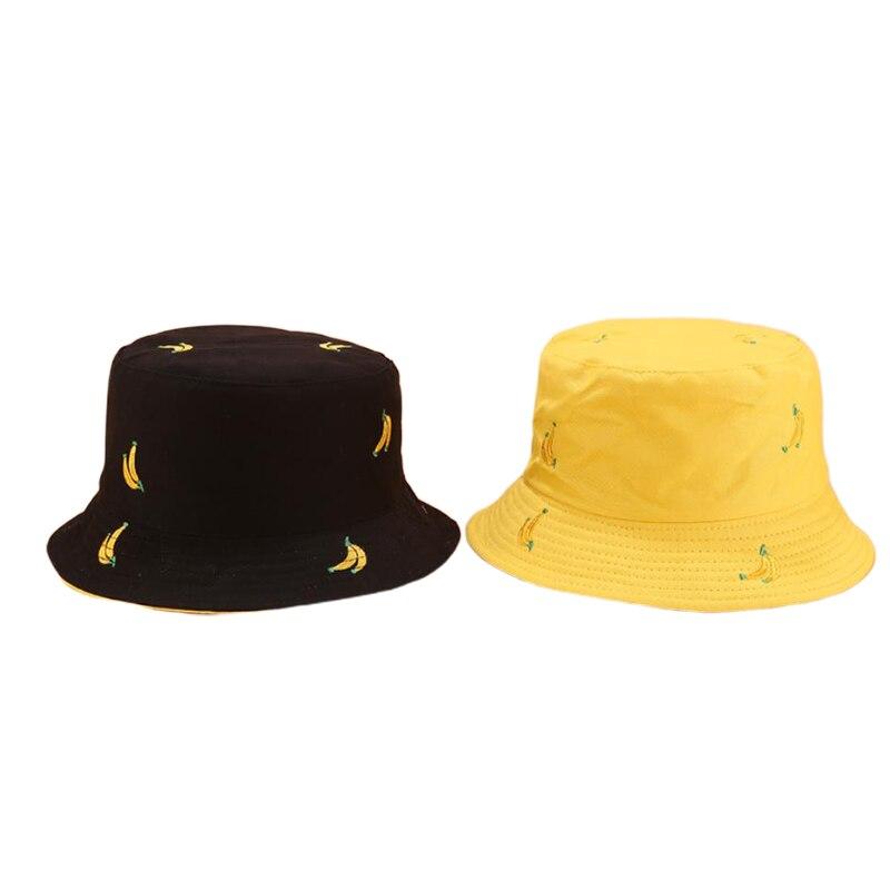 Двусторонняя шляпа-ведро с фруктами и вишнями для мужчин, женщин и мужчин, шляпа в рыбацком стиле, Панама, Боб, летняя шляпа от солнца
