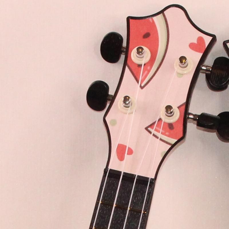 Children Ukulele Fruta Barato Gloss Flower Set Pink 4 String Small Guitar 21 Inch Sports Cartoons Guitarra Entertainment ZZ50YL enlarge