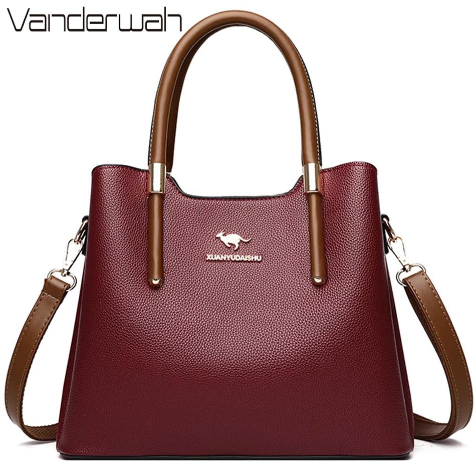 Leather Casual Crossbody Bags for Women 2021 Ladies Luxury Designer Tote Handbag Top-Handle High Quality Shoulder Bag Sac A Main