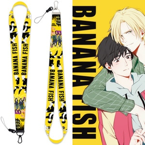 Anime Banana Fish Cosplay Accessories Prop Polyester KeyChain Cell Phone Neck Strap ID Lanyards Keychain