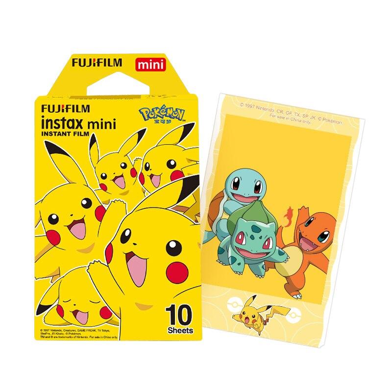Original polaroid fujifilm instax mini pokemon instantâneo 10 folhas mini filme para fuji 7s 8 9 25 50s 70 90 & SP-1 impressora
