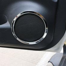 Zlotrd housse de garniture pour Nissan   4 pièces pour Nissan x-trail Xtrail Rogue T32 2013 -2017, housse de garniture Audio stéréo de porte de voiture, housse de haut-parleur de Tweeter ABS