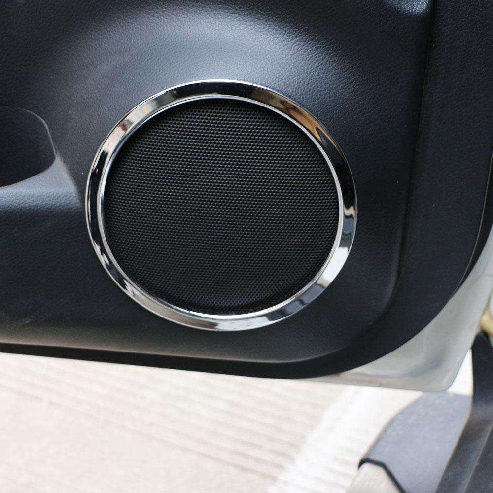 Zlotrd 4 шт. для Nissan X-Trail Xtrail Rogue T32 2013 -2017 Автомобильная Дверь звук стерео аудио крышка Накладка кольцо ABS твитер динамик крышка