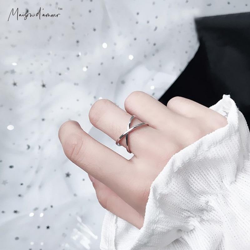 Мезон d'amour 2020 новый дизайн 925 пробы серебряные кольца Простые Кольца для женщин обручальные кольца для женщин, подарок