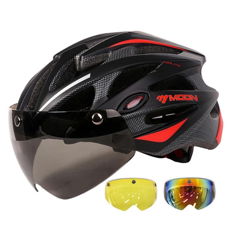 MOON-gafas magnéticas para Ciclismo, Casco Para Bicicleta de Montaña, con gafas en...