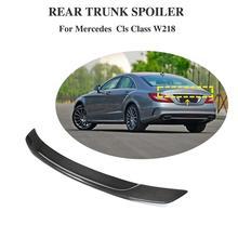 For Mercedes CLS Class W218 CLS350 CLS500 CLS550 Spoiler Carbon Fiber Rear Trunk Spoiler Wing 2012-2017