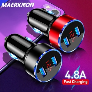 3.1A USB зарядное устройство для телефона светодиодный дисплей автомобильное зарядное устройство для Xiaomi Samsung мобильный телефон адаптер Автомобильное зарядное устройство для iPhone 12 11 Pro 7 8 Plus