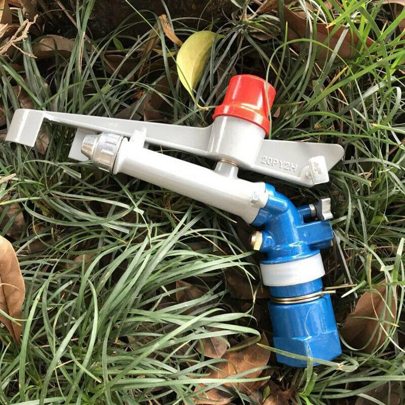 1 بوصة تأثير الرش 360 درجة قابل للتعديل الري رذاذ سبائك الزنك أداة الزراعة والمروج والري والأحزمة الخضراء