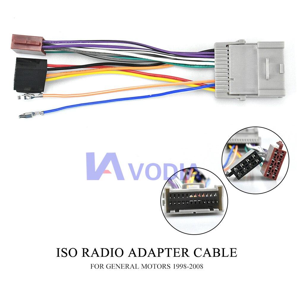 12-042 ISO (female) жгут радио адаптер для BUICK 2004-2009 для CHEVROLET GMS для Hummer H3 жгут проводов разъем