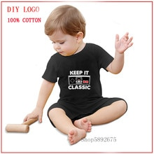 2020 New Newborn romper Keep It Classic printed Baby Boy natural Cotton Jumpsuit  Baby Body Clothing