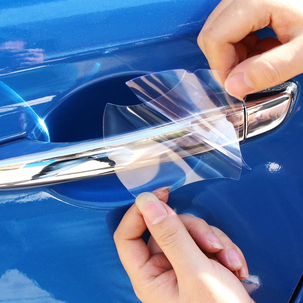 5 uds transparente de la manija de coche película protectora para Opel Astra J K Corsa D E Zafira C Mokka Insignia Cascada Karl Adam Meriva
