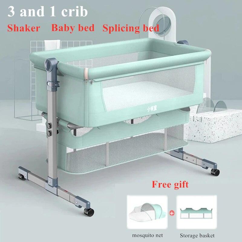 سرير الوليد خياطة السرير القابلة للإزالة وقابلة للطي المحمولة بيونيك مهد طفل سرير bb سرير طفل شبكات الباعوض الحرة