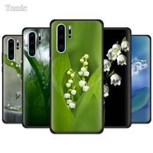 Étui fleur de muguet pour Huawei P30 P40 Pro P20 Lite P Smart Plus 2019 profitez de Z 5G Y5p Y6p Y8s noir couverture souple pour téléphone