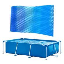 Bâche solaire piscine rectangulaire poussière de piscine PE bâche à bulles Film isolant pour piscine intérieure extérieure accessoires