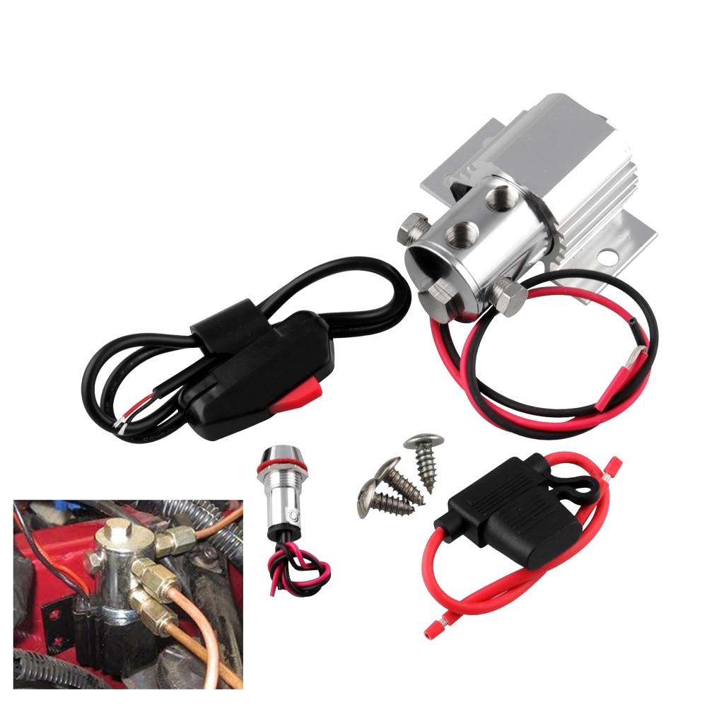 Opony szafki dla Ford Mustang blokady linii kontroli rolki hamulec samochodowy blokady linii zestaw 12V 24V + blokada drutu zawór + uchwyt bezpiecznika + lampka kontrolna