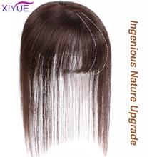 Xiyue Dunne 3D Air Braziliaanse Haar Pony Rechte Nette Pony Clip In Human Hair Extensions Remy Haar Topper Pony Clips