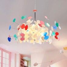 Dessin animé papillon lustre créatif salon salle à manger led lustre éclairage enfants chaud personnalité chambre lampe à led