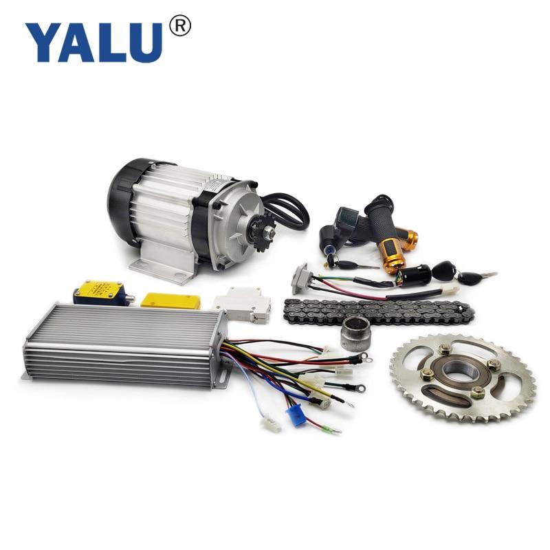 YALU-مجموعة تحويل محرك الدراجة ثلاثية العجلات ، BLDC ، 1000 واط ، 48 فولت ، BM1418ZXF