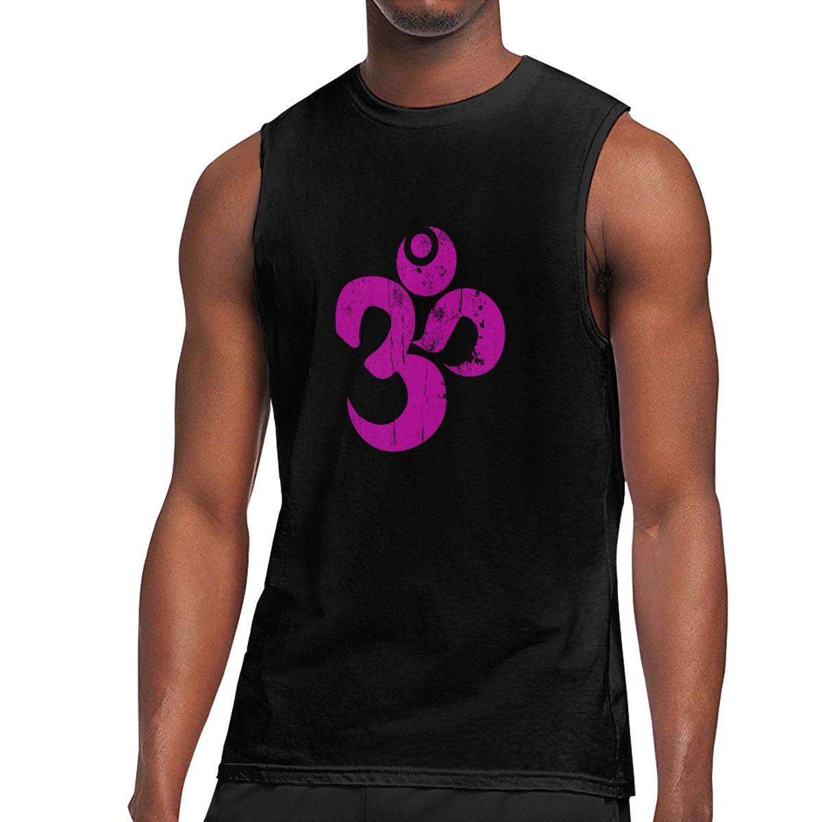 Camiseta sin mangas para hombre clásico, símbolo Om Ohm, hindú