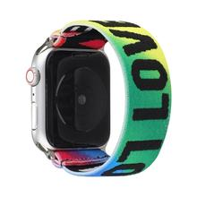 Love You – bracelet de sport pour Apple Watch, en Nylon, en tissu Flexible, pour iwatch série 6 SE 5 4 3 2 1