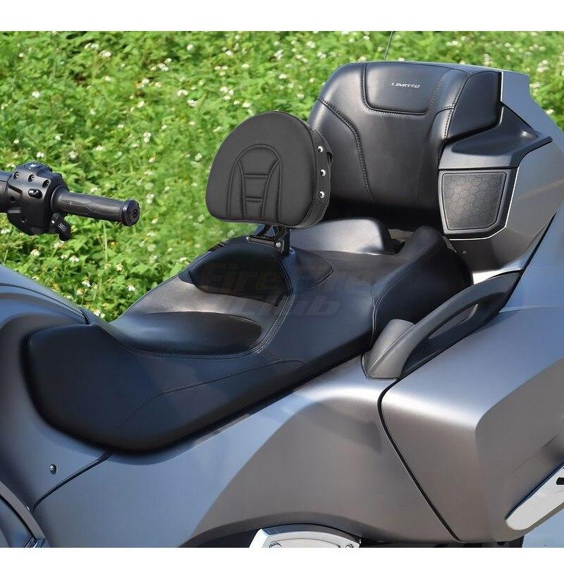 Black Driver Rider Backrest Pad For Can Am Spyder RT SE6 SM5 2008-2017 Motorcycle Adjustable Backrest 16 15 14 13 12 11 10 09