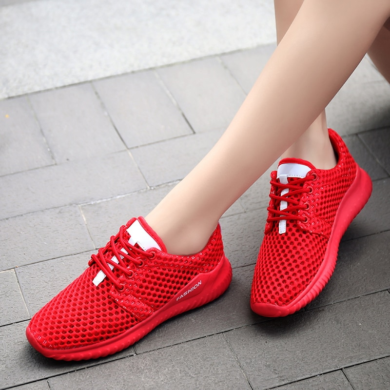 Tenis Feminino 2020 New Autumn Cheap Women Tennis Shoes Comfort Sport Shoes Women Fitness Sneakers Athletic White Red Footwear