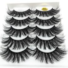5 Pairs Multipack Faux 3D Mink Hair False Eyelashes Handmade Fluffy Long Lashes Nature Long Eye Make