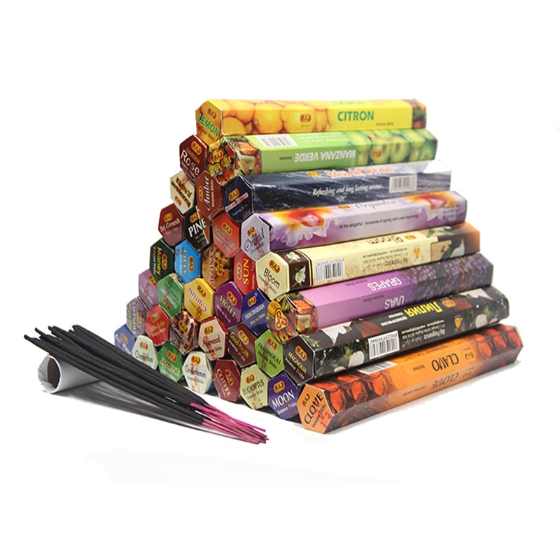1 Box Tulip 48 Flavors Tibetan Incense Sticks Indian Incensea White Sage Flavor Sandalwood Incense M