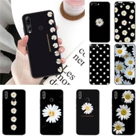yndfcnb little daisy black cell phone case for huawei honor 8x 9 10 20 lite 7a 7c 10i 9x play 8c 9xpro