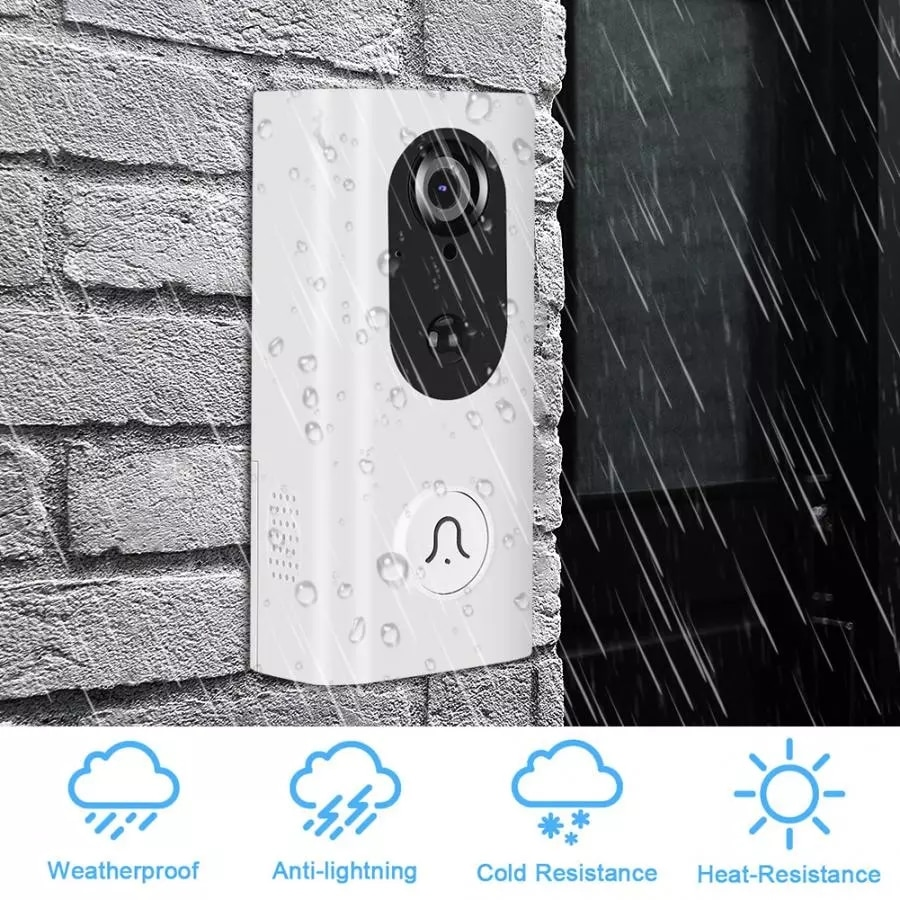 WiFi Video Doorbell HD Security Camera Tuya Smart APP Compatible with Alexa and Google, Motion Detection Night Vision Door Bell enlarge