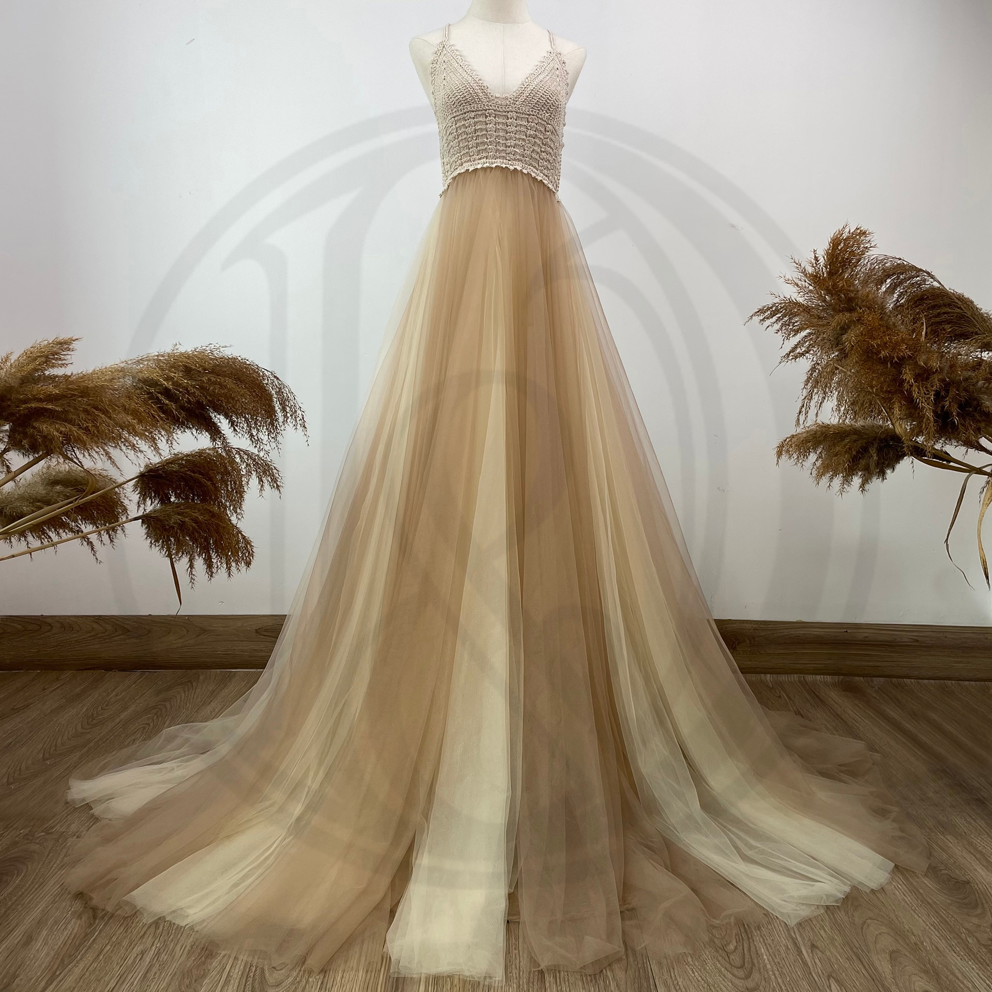 Photo Shoot Props Condole Belt Kaftan Maxi Tulle Robe Maternity Dress Evening Party Costume for Women Photography Accessories