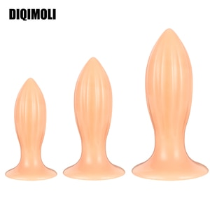 Huge Anal Plug Cone-Shape Anal Dilator Dildos Healthy Soft Anal Sex Toy Stimulates the Vagina and Anus Massage Prostate Sex Toys