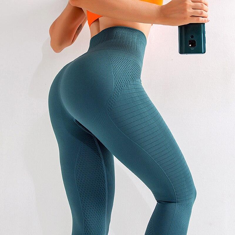LANTECH mujer Yoga Leggings Fitness Running pantalón cintura alta barriga Activewear energía sin costuras Push Up Fitness ropa deportiva gimnasio