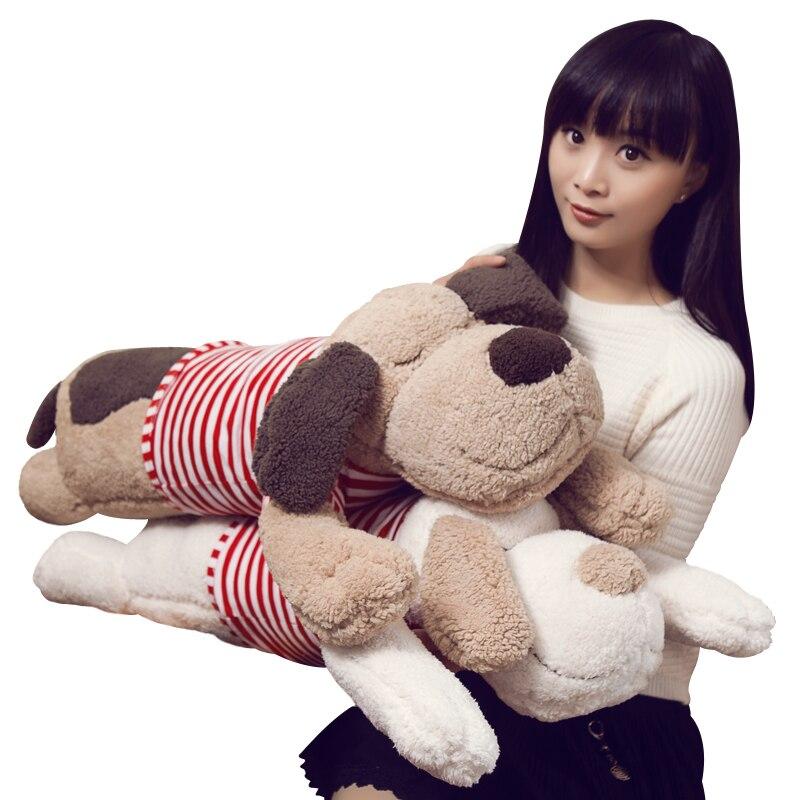 Lindo perro largo de peluche de juguete de peluche suave Animal de dibujos animados almohada encantador regalo de Navidad para niños Kawaii regalo de San Valentín