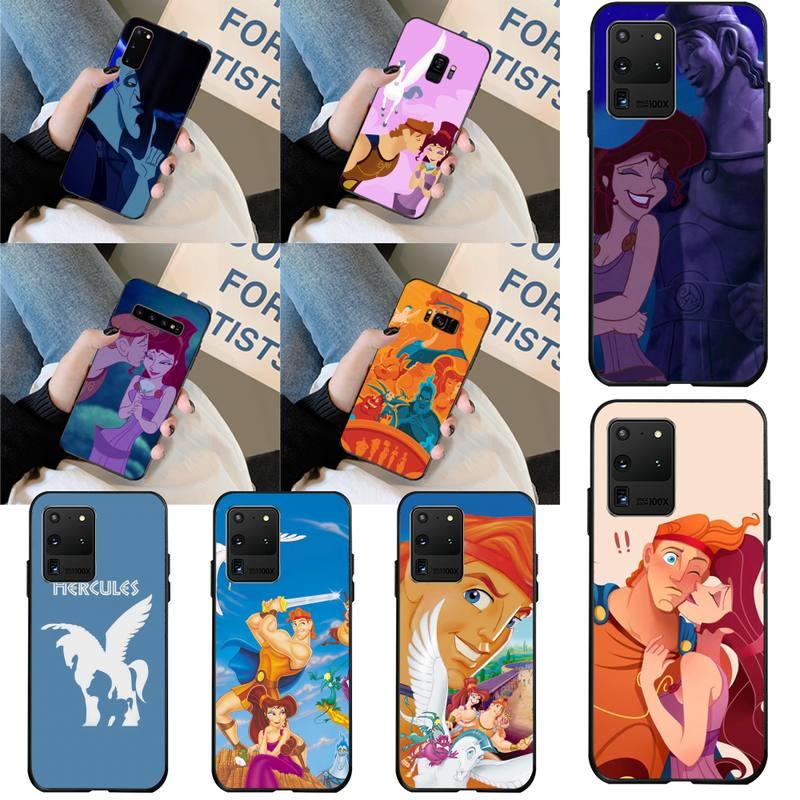 HPCHCJHM Hércules Anime Bling lindo caso de teléfono para Samsung S20 plus Ultra S6 S7 borde S8 S9 más S10 5G