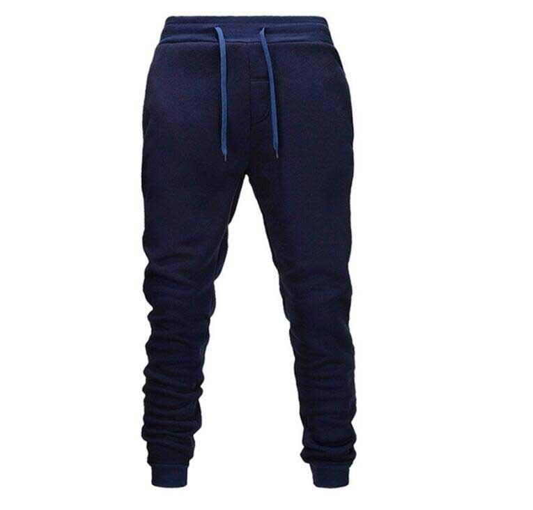 Pantalones de chándal informales para hombre, pantalones elásticos de algodón para gimnasio,...