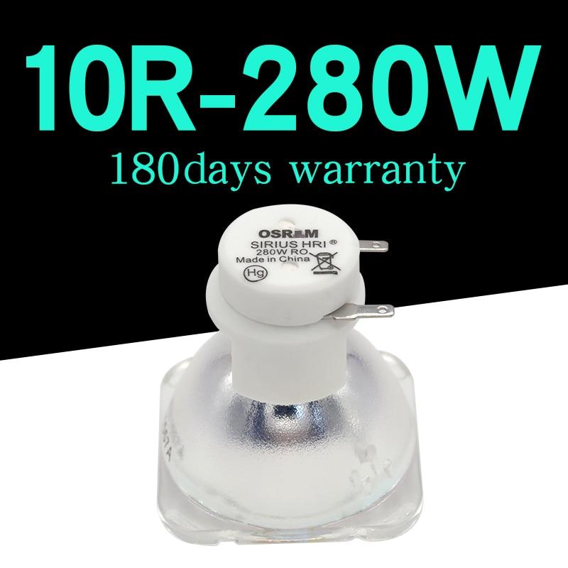 1PC/lote 1 MSD 280W lámpara MSD Platinum 10R... P-VIP280W lámpara 280W Sharpy foco con cabezal móvil bombilla etapa Luz