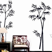 bamboo wall stickers chinese style vintage home decor living room teenager room decoration stickers poster mural wallstickers