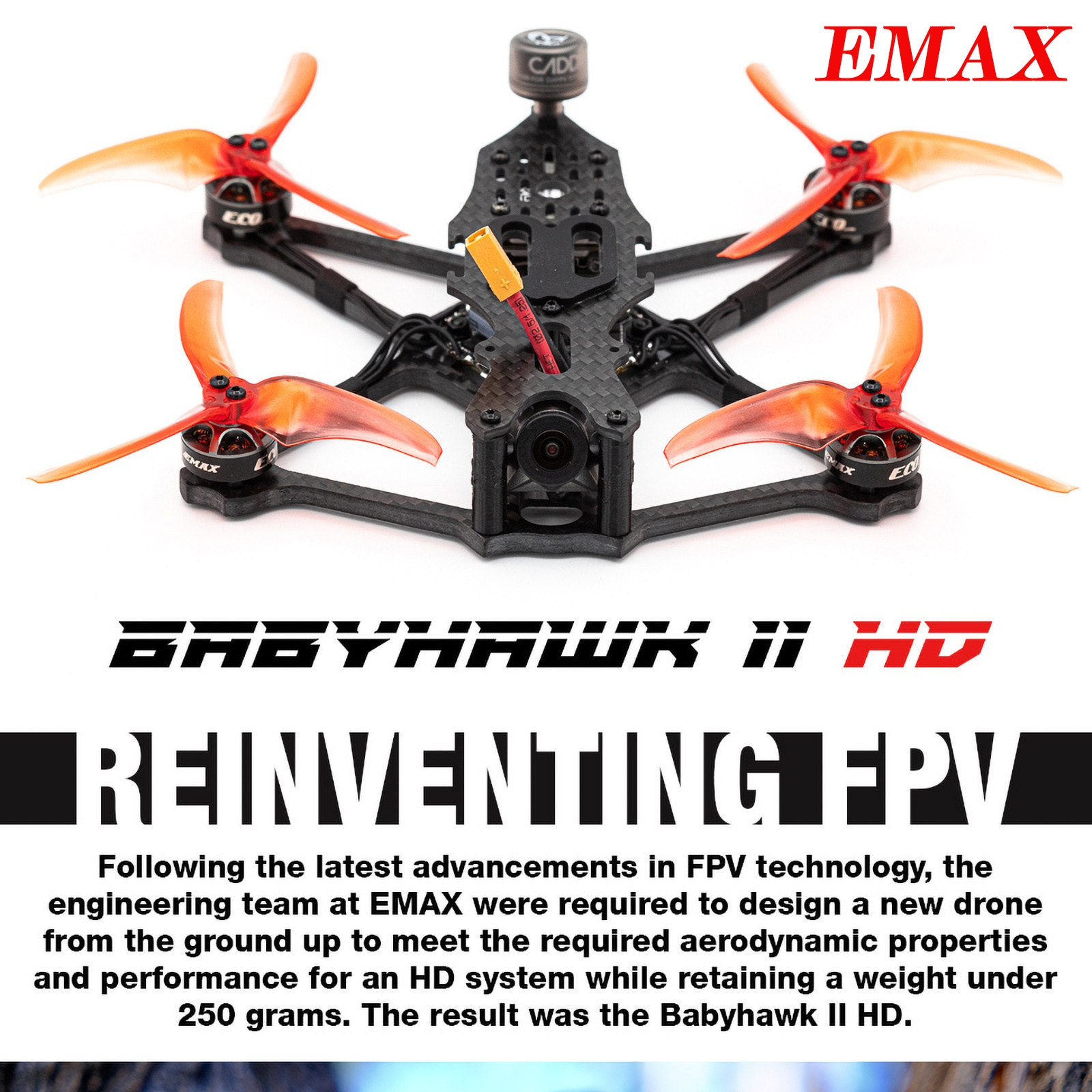 EMAX Aerial Photography Drone Babyhawk 2 Hd Pnp 155mm F4 4s Fpv Racing Drone Children's Integrated Remote Control Drone Toy #K