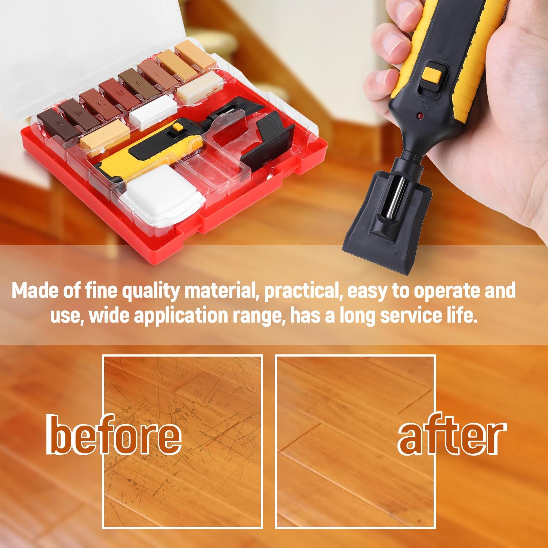 Reparación manual Kit de piso encimera resistente carcasa Chips máquina de mano ax sistema arañazos reparación herramienta de laminado con caja de herramientas