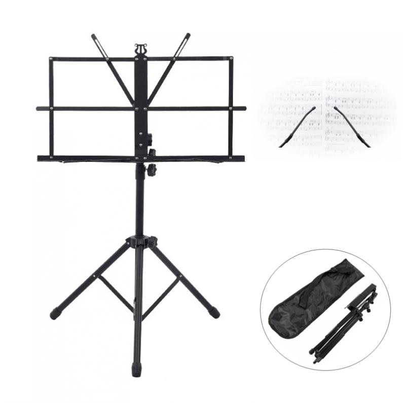 Folding Lightweight Music Stand Aluminum Alloy Tripod Stand Holder Height Adjustable with Carrying Bag Guitar Accessories enlarge
