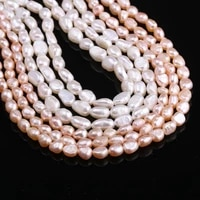 100 natural freshwater 4 5mm irregular pink white pearl for women jewelry making elegant bracelet diy necklace 13 inches gifts