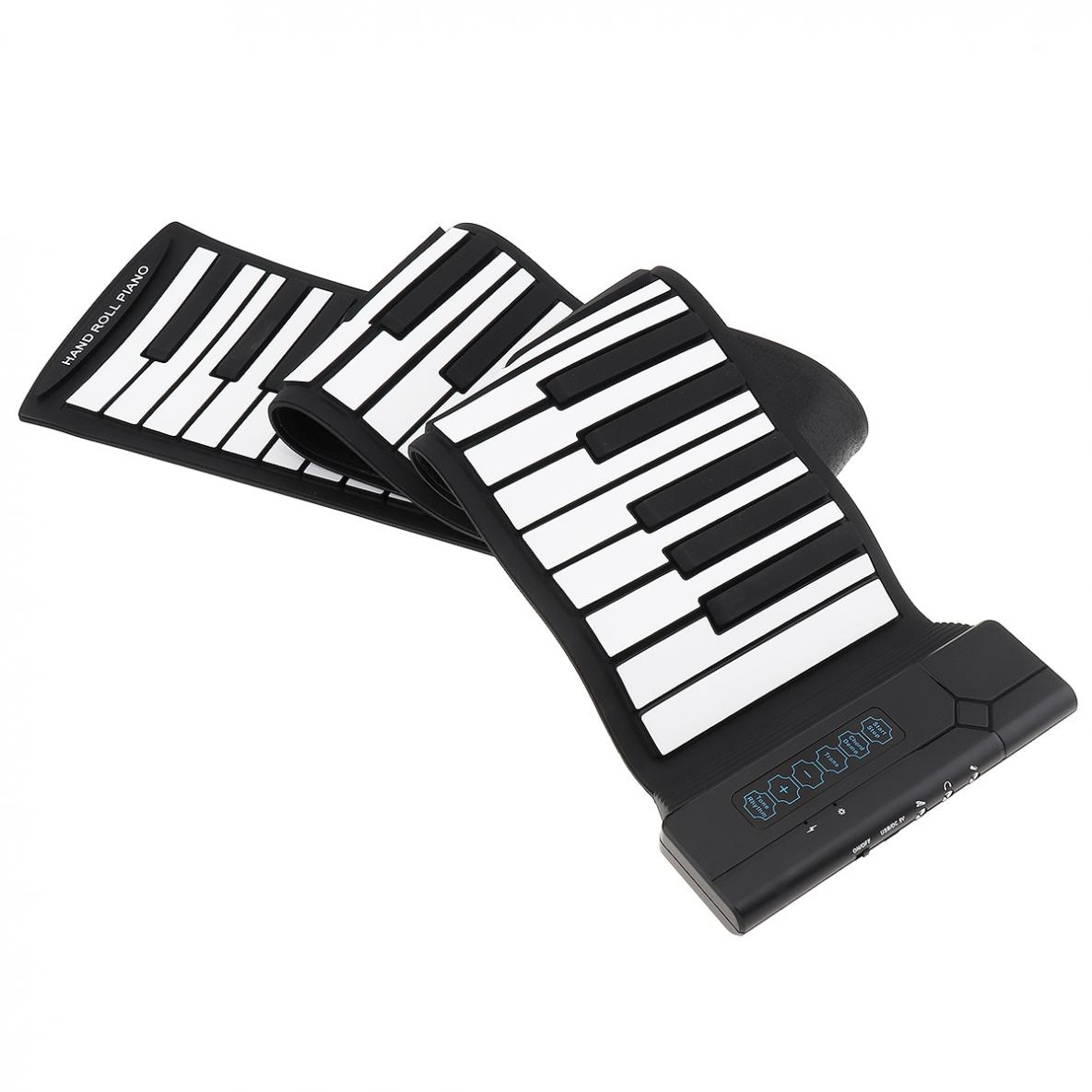88 Keys Roll Up Piano USB MIDI Output Rechargeable Electronic Portable Silicone Flexible Keyboards Organ with Sustain Pedal enlarge