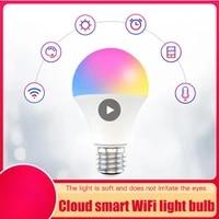 Ampoule intelligente Wifi Cloud Intelligence  15W RGB   CCT  Version a large tension 85-260V  fonctionne avec Alexa Google Home APP telecommande