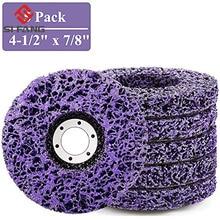 1-10 pièces 125mm Poly bande disque abrasif roue peinture antirouille propre meules pour meuleuse dangle Durable voiture camion Motorc