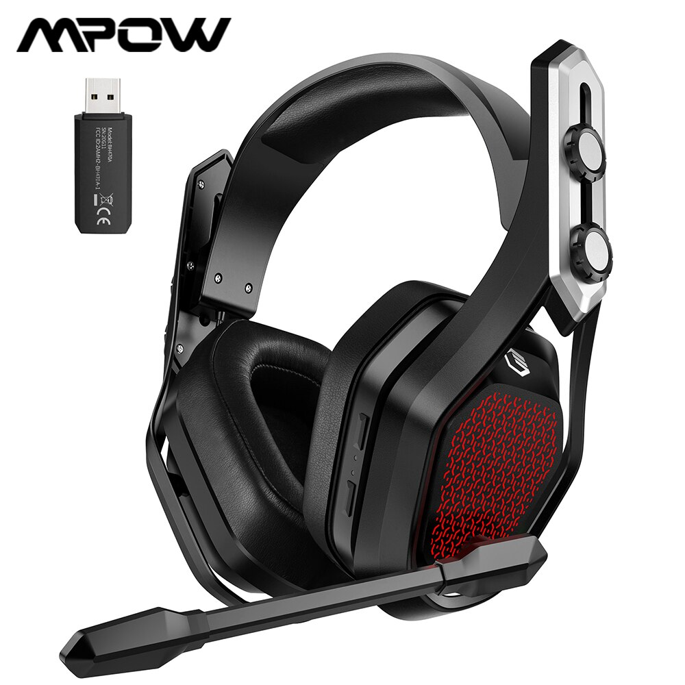 Mpow الحديد برو اللاسلكية سماعة الألعاب سماعة سلكية ل PS4/PC/Xbox One/التبديل/الهاتف مع الصوت المحيطي و 20H عمر البطارية