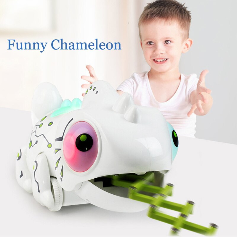 HY245 Dinosaurio Robo Dinosaur Toy Remote Control Chameleon 2.4GHz RC Pet Intelligent Animal Robot Kit Kids Toys For Children enlarge
